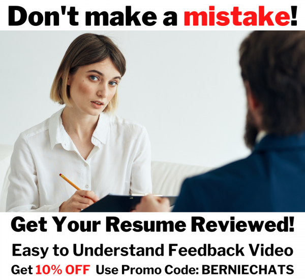 Resume Review and Feedback on Video - Bart Zych